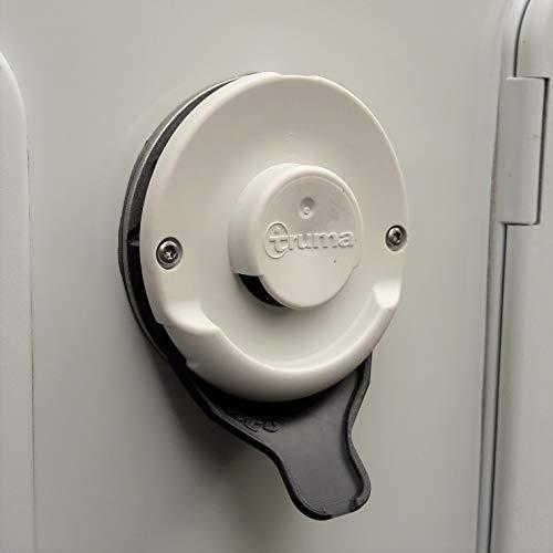 Manufaktur3D Kondenswasserablauf Kaminschild Ablauf für Deckel Kamindeckel Kaminabdeckung Abgaskamin der Heizung an Wohnmobil Caravan (Typ Truma, Farbe Schwarz)