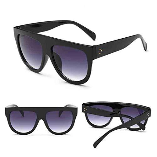 SHE.White Schwarz Braun Design Sonnenbrille Nerdbrille Retro Look Brille Pilotenbrille Vintage Look...