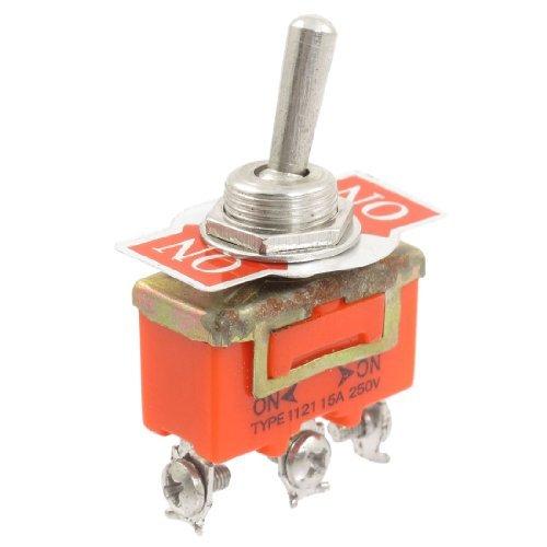 DealMux SPST ON / OFF / ON 3 Position 3 Schraubanschlüsse Toggle AC 250V 15A Schalter -