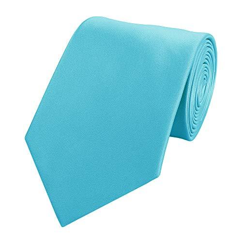 Fabio Farini Krawatte klassiche Breite mehrere Farben zur Auswahl (ohne Geschenkverpackung, cyan -türkis)