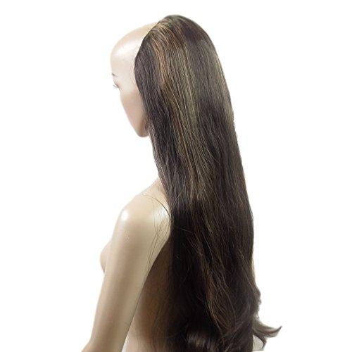 Alle Farben sind erhältlich, Einteilige Clip In Haarverlängerungen Braun Mit Kupfer Halb Perücke Extra ()