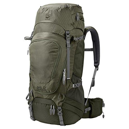 Jack Wolfskin Damen Highland Trail Xt 50 Wandern Outdoor Trekking Rucksack, Woodland Green, 63x33x13 cm