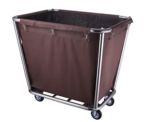 Trolleys Medizinischer Aufbewahrungswagen | Behandlungswagen Aus Edelstahl | Wasserdichter Müllwagen Für Labor/Hotel/Krankenhaus (Farbe : Kaffee)