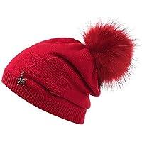 ZKADMZ   Las Mujeres Calientes del Sombrero del Invierno Estrella De Cinco  Puntas Sombrero De e326a7ea708
