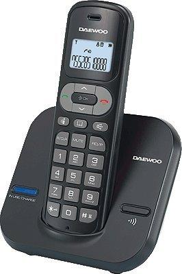 Daewoo DTD 1600 - Teléfono fijo inalámbrico, color gris