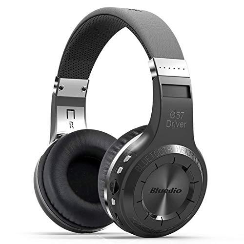 QKa Drahtlose Bluetooth Kopfhörer V4.1 Bass Stereo Over-Ear Headset mit Mikrofon und UKW-Radio Unterstützung SD-Karte für Smartphone (weiß),Black