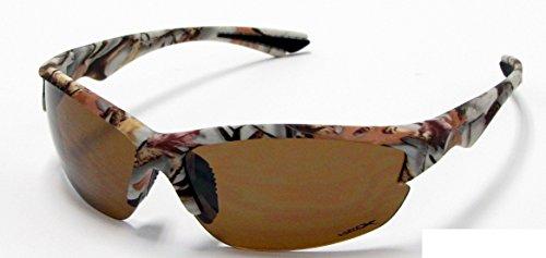 Vertx Camouflage Sonnenbrille Braun Orange Weiß Camo Angeln Jagd Outdoor, Braun, 56306wht-brn (Oak Rahmen Mossy Camo)