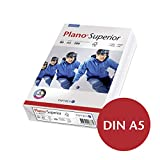 Kopierpapier Plano®Superior, 80 g/qm, A5, Weißegrad 168 CIE, weiß, Packung = 500 Blatt