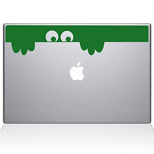 The Decal Guru Peek-a-Boo Monster MacBook Aufkleber, Vinyl, 33 cm (13 Zoll) MacBook Pro (2016 und Neuer), Grün (1149-MAC-13X-LG)