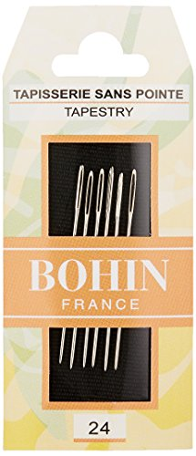 Bohin Tapestry Needles Size 24, Silver