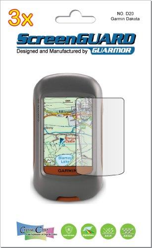 3 x Garmin Dakota 20 10 Handheld GPS Navigator LCD Displayschutzfolien für Dokumentenschutzfolie Kits (Paket Guarmor) Gps-navigator Kit
