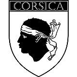 Autocollant Ecu province de Corse (100x130mm)