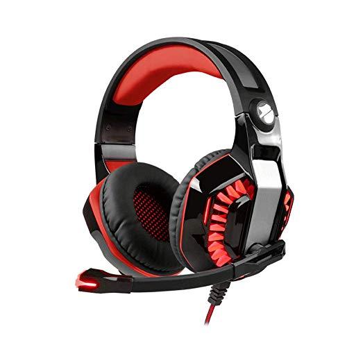 YUNYIN Gaming-Kopfhörer, Subwoofer mit Mikrofon mit Geräuschunterdrückung, für PC/Mac/PS4/Xbox -