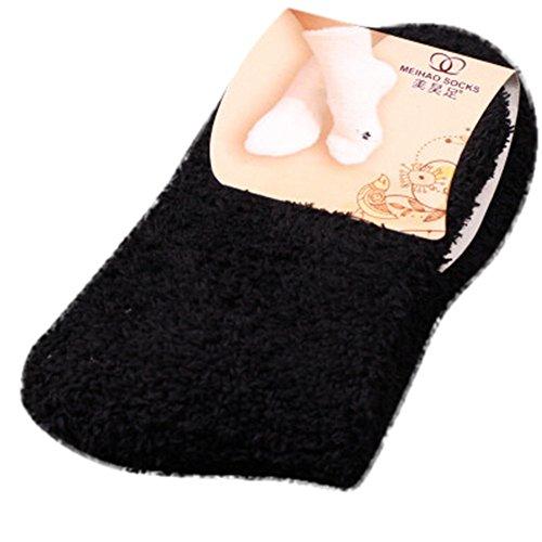 YWLINK 1 Paar Dicke Warme Socken In Verschiedenen Trendfarben Socken Damen Warm Winter Socken Haussocken Schlafende Socken Flauschige Kuschelsocken