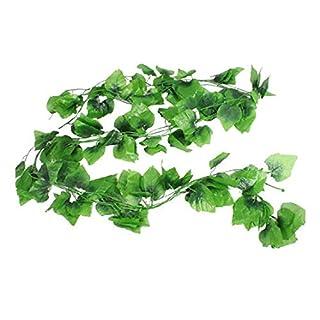 Deanyi Künstliche Kunstpflanze Pflanze Girlande Busch Ranke Pflanze Hänger (2X Weinblatt Girlande) Haushaltsgegenstände
