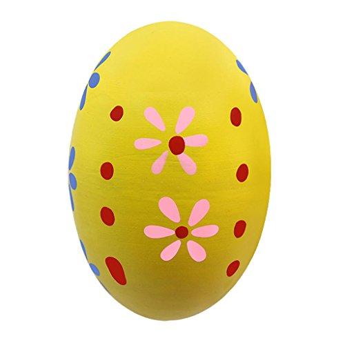 Homyl Tragbare Kunststoff Percussion Musical Egg Maracas Eier Shakers Kid Kinder Ei Shaker - Gelb