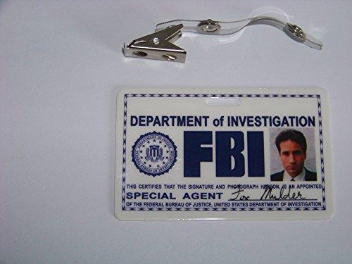 Akte X Agent Fox Mulder ID - Karte aus der Serie, (waagerecht) , ID Badge , Special Agent , X - Mulder Kostüm
