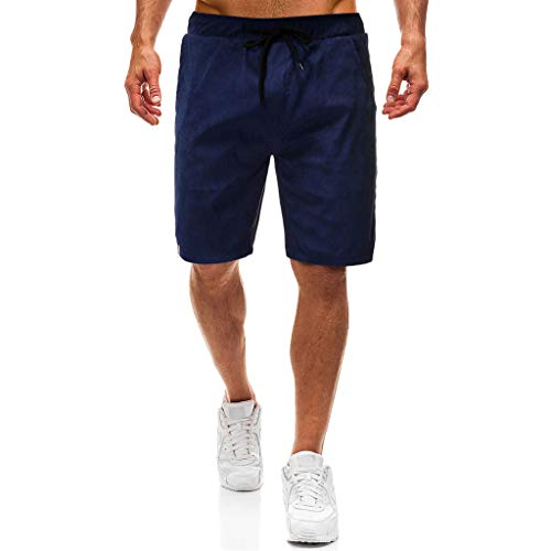 tton Casual Shorts Classic Fit Summer New Men Chino Shorts Combat Half Cargo Pants Overalls with Pockets and Drawstring ()