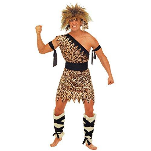 NET TOYS Kostüm Tarzan Urwald Mensch Dschungel Kostüm Dschungelkostüm Steinzeit Steinzeitkostüm Urwaldkostüm Gr L 50/52