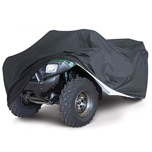 Universal Quad ATV Abdeckplane Fahrzeug Abdeckung Schutz Cover Winterfest Staub Regen UV-Schutz für ATV, Motorroller, Motorräder und Quad-Bikes(XL,Black)