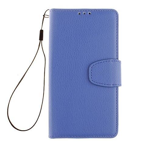 PU Leder Blau Schutzhülle für LGLBello(D331,D335)/LGLPrime(D337) case Wallet Schale Tasche