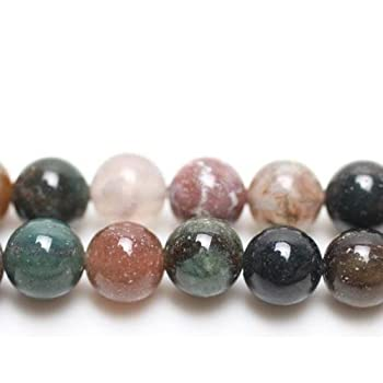 Coffee Bean Jasper Round Beads 6mm Mixed 10 Pcs Gemstones DIY Jewellery Making