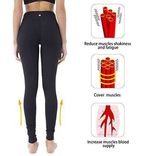 Queenie Ke Damen Leggings Technik Mesh Hohe Taille Elastique Jogging Yoga Pantalons Schwarz#2
