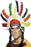 Smiffys Unisex Indianer Haarschmuck, One Size, Bunt, 364