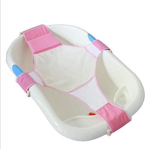 LYX Baby Verstellbare Badesitz Unterstützen Sicherheit Cross Mesh Dusch Netz Matte,Pink