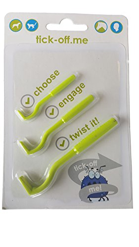 Tick-Off removedor de garrapatas para perros, gatos, caballos, mascotas, y personas