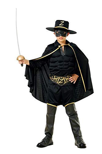Glooke selected zorro costume bambino, colore nero, 375403