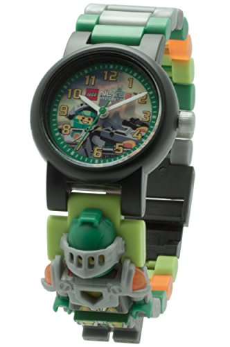 Lego-Nexo-Knights-Aaron-Minifigure-Link-Childrens-Quartz-Watch-with-Multicolour-Dial-Analogue-Display-and-Multicolour-Plastic-Bracelet-8020523