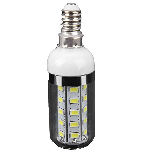 7W 36 x SMD-5730 Dimmbare LED Mais Licht Lampe mit Silber Rand (1600Lm 6000-6500K)