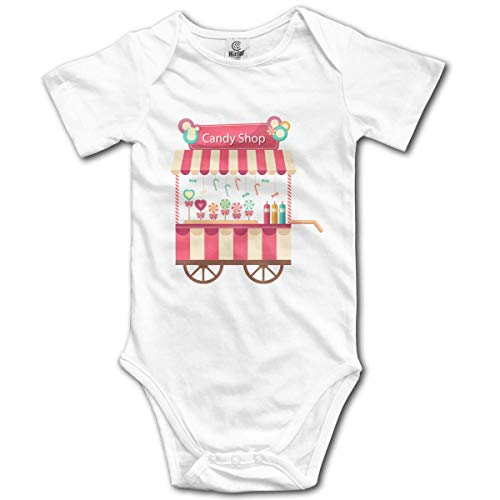 Clothes Set Candy Shop Bodysuits Romper Short Sleeved Light Onesies,0-3M ()