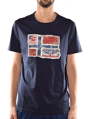 NAPAPIJRI T-Shirt Senou S81 MainApps 176-Blu Marine (Blu)