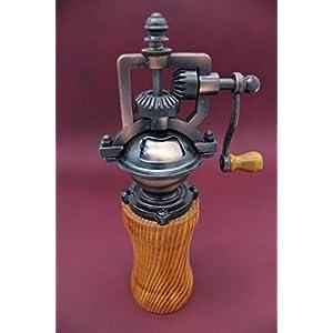 Gewürzmühle aus Holz Pfeffermühle Vintage Salzmühle Einstellbares Mahlwerk Handgedrechselt Unikat aus Oregon Pine/Douglasie