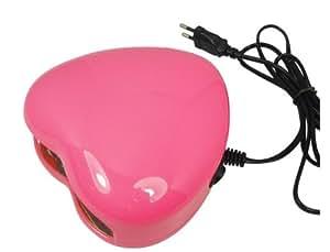 Sèchoir-ongles LED 3W 28LED Lumière nail art gel de lampe en forme de Coeur Lampe LED Nail Dryer couleur rose 220V
