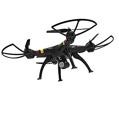 Syma Update Efaso Quadcopter X8 °C New Model Now With 3Mp Camera, Headless Mode 2.4G 4CH Quadcopter With 5.0MP Wide Angle HD Video Camera, Rotor Protective Flip 6-Axis Gyro and LED Light up function from efaso