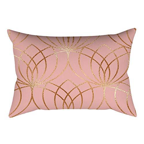 ABsoar Kissenbezug Sofa Taille Throw PillowCover Lang Kissenbezug Home Decoration Pillow Case Kissenbezug Rose Gold Pink...