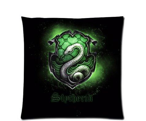 """Nouvelle Taie d'oreiller personnalisée Harry Potter Robe de Serpentard symbole Taie d'oreiller 18 """"x 18"""" à deux côtés"""