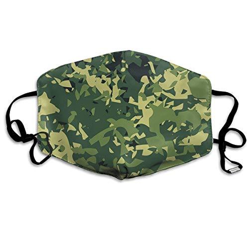 Unisex-Staubmaske Teal Camouflage Party Supplies Gelbe Mundmaske Gesichtskleidung Anti-Umweltverschmutzung Outdoor-Maske Aktivitäten Warm winddicht Gesichtsmasken Multicolor16