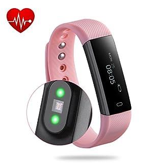 Fitness Tracker,Rixow Bluetooth 4.0 Smart-Sync-Armband, Leben Wasserdicht IP65 Sport Armband Fitnessarmband mit Herzfrequenz / Schrittzähler / Kalorienzähler / Schlaf-Monitor / SMS Anrufe / Sport-Modus für Smartphone