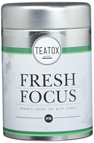 TEATOX Fresh Focus Tee, Bio Grüntee mit Ginkgo und Ginseng (loser Tee im Grobschnitt in Tee-Dose)