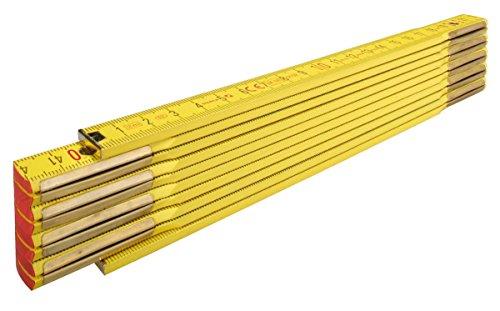 STABILA Holz-Gliedermaßstab Type 907, 2 m, gelb, metrische Skala