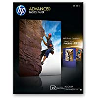 HP Advanced Q8696A- Papel fotográfico satinado con brillo (25 hojas, 13 x 18 cm)