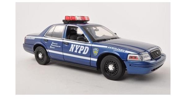 Ford Crown Victoria Police Interceptor Nypd Auxiliary Polizei Usa 2001 Modellauto Fertigmodell Greenlight 1 18 Spielzeug