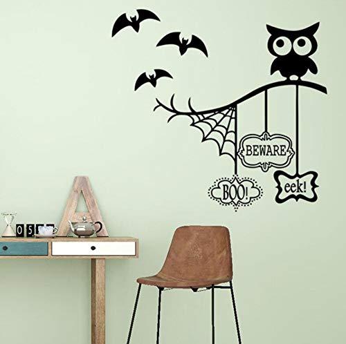 Halloween Theme Wandaufkleber Spinnennetz Schläger Hintergrund Wandbild Aufkleber PVC-Aufkleber 44 * 57cm