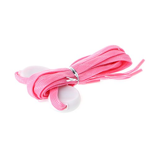 chnürsenkel Multicolor Blinkende Luminous Outdoor Party Kit Shoestrings, Polypropylen, Rose, Length: 120cm/47.24 ()