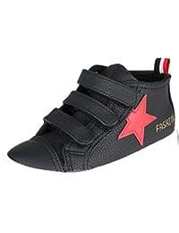 Kentti Sneaker a Collo Alto, Scarpe da Ginnastica Sportive in Tela Alte Unisex-bambini Rosso 35 EU/2.5 UK
