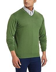 Raymond Mens Woolen Sweater (8907254807503_RMWX00492-N4_40_Medium Green)